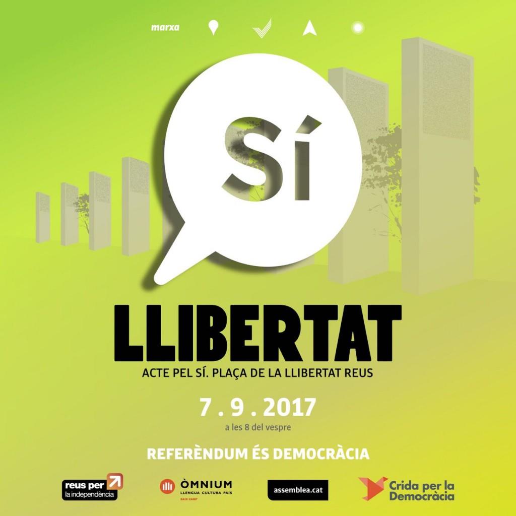 Acte pel SÍ. Plaça Llibertat. 07_09_2017